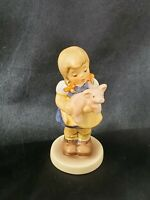 """Goebel Pigtails - Girl With Pig - 3 1/4"""" Tall - MINT IN BOX Hummel Club"""