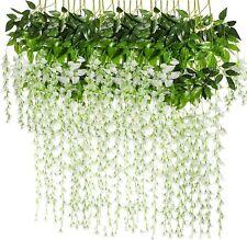 6/12/24 Artificial Wisteria Flowers Vine Silk Wedding Party Garden Hanging Decor