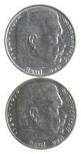 1939 1937 GERMAN WW2 NAZI 2 Mark Swastika Silver Coin - Germany War *456