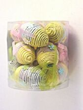 12 Unusual Purple Yellow Pink Easter Eggs Carton Decoration Ornaments Spring