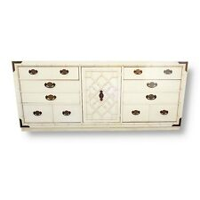 Vintage Thomasville Huntley Faux Bamboo Chippendale Fretwork Dresser Credenza