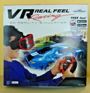 VR Real Feel Virtual Reality Car Racing 3D Simulator with Bluetooth -- New!!