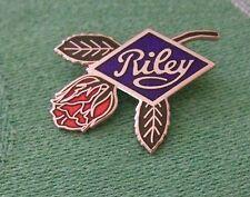 LAPEL BADGE/PIN - RILEY & ROSE - RILEY MOTOR COMPANY LOGO & ROSE