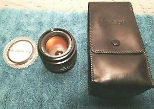 MINOLTA MD 50mm 1:1.4 FAST Lens w/Cap, Case and Kalimar UV Filter Excellent Cond