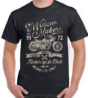 Widow Makers Motorcycle Club Mens Motorbike T-Shirt Bike Biker Widowmaker