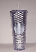 STARBUCKS 2019 = BLING PLATINUM STUDDED = COLD CUP TUMBLER Venti 24 oz Holiday