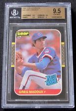 New listing 1987 LEAF GREG MADDUX ROOKIE RC BGS 9.5