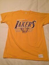 Vintage LA Lakers T Shirt Sz Large Sand Knit 80s