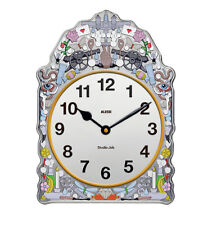 Alessi - SJ01 Comtoise Wall clock in tinplate with decoration.
