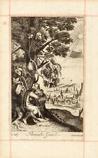 1690 Biblical Copper Etching- JONAH'S GOURD  - BLOME-ORIGINAL