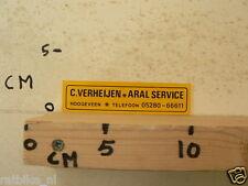 STICKER,DECAL ARAL SERVICE C VERHEIJEN HOOGEVEEN
