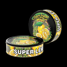 Super Lemon Haze 3.5g press it in cali Tins preapplied labels