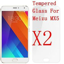 2X 100% Genuine Premium Tempered Glass Screen Cover Protector For Meizu,mx5,MX 5