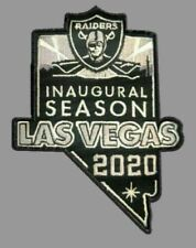 2020 LAS VEGAS RAIDERS PATCH NEW INAUGURAL SEASON JERSEY STYLE EMBROIDERED NFL