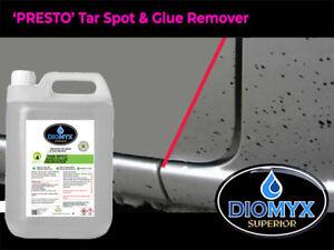 DIOMYX 'Superior 'PRESTO' Tar & Glue Remover 5L+ Applicator Bottle & Cloth