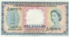 More details for malaya & british borneo (p1) 1 dollar 1953 qeii vf
