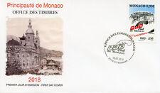 Monaco 2018 FDC PEN Club 50 Yrs 1v Cover Writers Literature Architecture Stamps