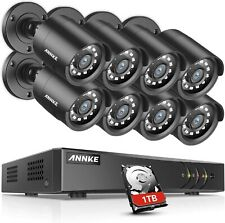 ANNKE 1080P CCTV Camera System, 8CH H.264+ Security DVR, 1TB HDD, 8x2.0MP...