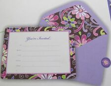 Vera Bradley INVITATIONS in PURPLE PUNCH All Occasion MSRP $23 Box of 12