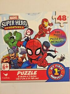 Marvel ~My First Marvels ~Superhero Adventures~ Foil Puzzle~48 Pc~ New~ Sealed!