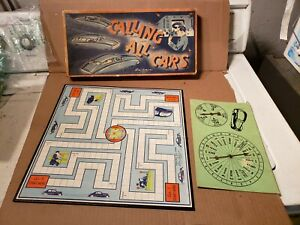 Vintage Board Game CALLING ALL CARS Parker Bros Graphics Cars Police mancave