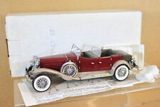 Franklin Mint b11kf07 1/24 1930 Duesenberg derham tourster Convertible MARRONES