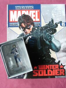 Winter Soldier #85 Classic Marvel Figurine Collection Figure & Mag Eaglemoss VFN