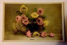 'Roses' Beautiful Hand Coloured Cavanders Card - Camera Studies Series No. 51