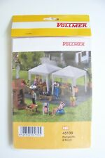 HO scale Vollmer TWO Party / Farmer's Market Tents : Model Building KIT # 45130