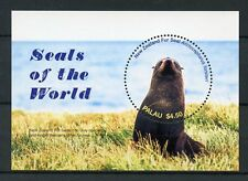 Palau 2017 MNH Seals of World 1v S/S New Zealand Fur Seal Wild Animals Stamps