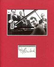 Dave Brubeck Jazz Big Band Pianist Legend Great Signed Autograph Photo Display
