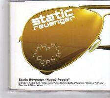 (GC552) Static Revenger, Happy People  - 2001 CD
