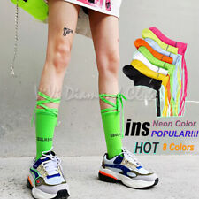 Fashion Women Trendy Leg Wrap Cross Straps Lolita Lace Up Calf Cotton Crew Socks