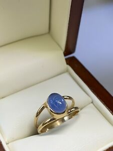 VTG 14k Solid Yel Gold Lady Cocktail Ring / Carved Scarab Stone Sz 7  2.5 Gm  NR