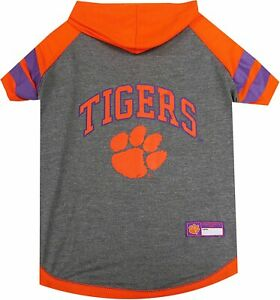 Pets First NCAA Clemson Tigers Hoodie for Dogs & Cats, Large.
