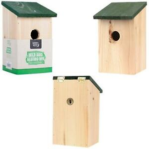 WOODEN NESTING BOXES NEST BOX BIRD HOUSE SMALL BIRDS BLUE TIT ROBIN SPARROW