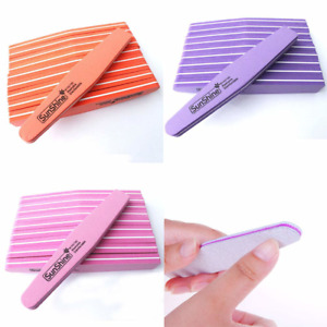 10pcs Nail Files Trimmer Buffer Lime Nails Art Tool Double Side Sanding File New