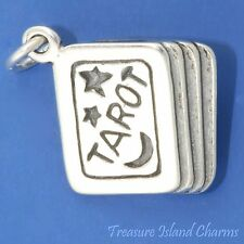 TAROT CARDS DECK PSYCHIC FORTUNE TELLER 3D .925 Solid Sterling Silver Charm