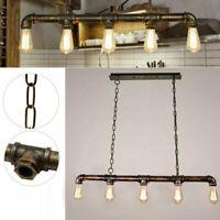 Vintage Industrial Steampunk iron pipe lighting Ceiling Pendant chandelier Light