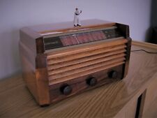 1948 Restored Vintage Wood Cabinet RCA Model 56x5 AM and Short Wave Table Radio