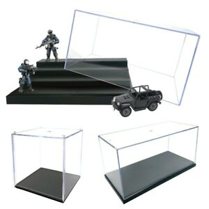 Clear Acrylic Display Countertop Box Organizer Dustproof Protection Showcase UK