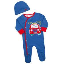 Babytown Baby Boys Car Design Sleepsuit & Hat Set