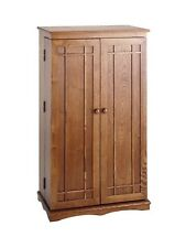 solid wood cabinets racks for sale ebay rh ebay com cd dvd storage cabinets wood Large DVD Storage Cabinet