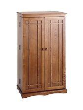 Hardwood 612 Cd 298 Dvd Storage Cabinet Dark Oak New