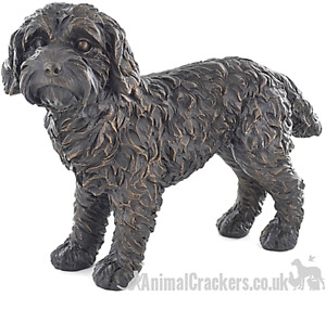 Large Cockapoo Bronze effect ornament figurine sculpture Doodle Dog lover gift