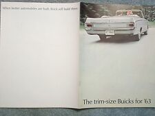 1963 BUICK BROCHURE THE TRIM-SIZE BUICKS FOR '63