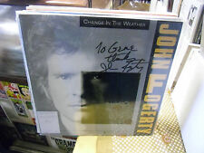 "John Fogerty Change In The Weather 12"" EX 1986 CCR Warner Bros promo SIGNED"