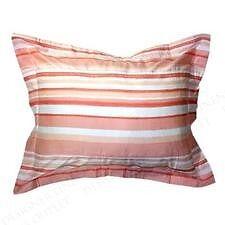 Liz Claiborne SALERNO peach pink stripped Standard Sham