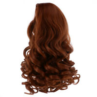 28cm Stylish Long Curly Wig for 18inch American Doll Clothes Accs Brown