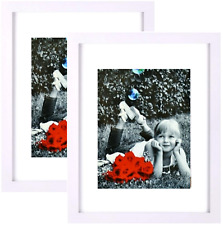 2 Pack Picture Wood Frame Black High Definition Glass Front Cover 11x14 inches